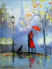 Premium poster  Kiss in Paris - Olha Darchuk