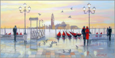 Acrylic print  In the morning in Venice - Olha Darchuk