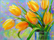 Canvas print  Bouquet of yellow tulips - Olha Darchuk