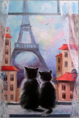 Acrylic print  Together in Paris - Olha Darchuk