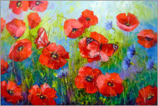 Acrylic print  Morning poppies - Olha Darchuk
