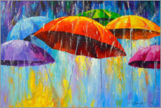 Canvas print  Dancing umbrellas in the rain - Olha Darchuk