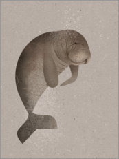 Wall sticker  Manatee - Dieter Braun