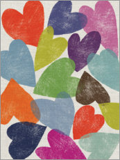 Wall sticker  Colorful hearts - Jenny Frean