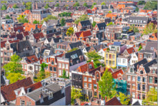 Acrylic print  The roofs of Amsterdam - George Pachantouris