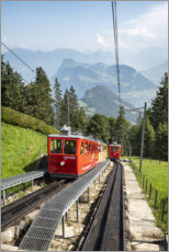 Acrylic print  Steepest cog railway in the world at Pilatus - Jan Christopher Becke
