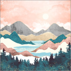 Wall sticker Lake Sunrise Landscape