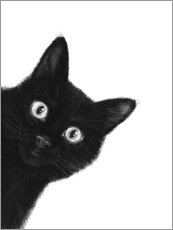 Foam board print  Black Cat - Valeriya Korenkova