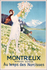 Canvas print  Montreux (French) - Travel Collection