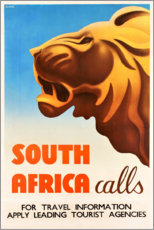 Premium poster  South Africa calls - Travel Collection