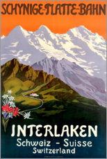 Premium poster  Interlaken - Travel Collection