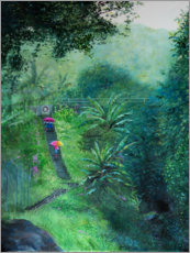 Premium poster  A staircase in the jungle - Jonathan Guy-Gladding
