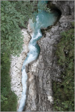 Premium poster  Wild water CANYON in the Alps, Austria - Studio Nahili