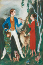 Canvas print  The young man and the girl - Nils von Dardel