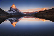 Acrylic print  Matterhorn with reflection in the mountain lake - Sven Müller