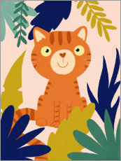 Wood print  Jungle Tiger - Julia Reyelt