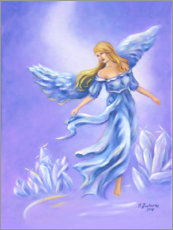 Foam board print  Crystal angel - Marita Zacharias