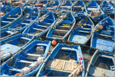 Premium poster Boats in the fishing port