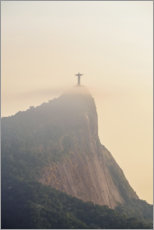 Premium poster  Corcovado mountain at sunrise - Karol Kozlowski