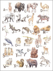 Wall sticker  Animal alphabet (Portuguese) - Wandering Laur
