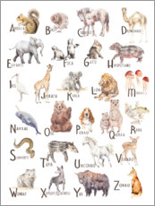 Wall sticker  Animal alphabet (spanish) - Wandering Laur