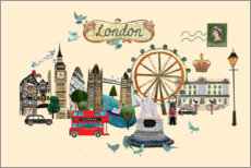 Acrylic print  London Collage - Elisandra Sevenstar