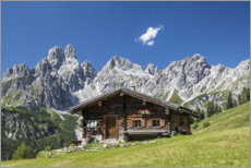 Canvas print  Alpine Hut in the Austrian Alps - Gerhard Wild