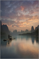 Canvas print  Li River sunrise - Yan Zhang
