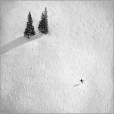 Foam board print  Ski tracks in the snow - Peter Svoboda