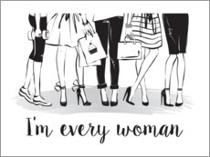Premium poster  Every woman - Martina illustration