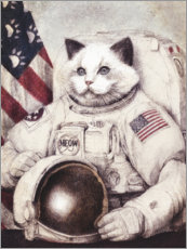 Acrylic print  Meow out of Space - Mike Koubou