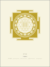 Canvas print  Sri Yantra Mandala - Thoth Adan
