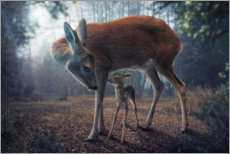 Wall sticker  Mother and fawn - John Wilhelm