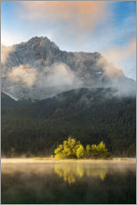 Premium poster  In the morning at the Eibsee - Michael Valjak