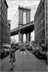Acrylic print  Brooklyn with Manhattan Bridge - Robert Bolton