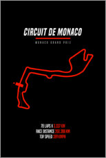 Canvas print  F1 Monaco Grand Prix (Circuit of Monaco) - Michael Tarassow