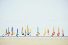 Premium poster Colourful beaches of Normandy