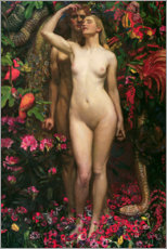 Acrylic print  The Woman The Man the Serpent - Byam Shaw