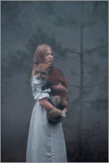 Premium poster The fox and the girl