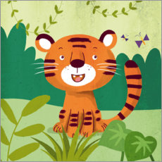 Canvas print  Little tiger - Julia Reyelt
