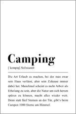 Gallery print  Camping Definition (german) - Pulse of Art