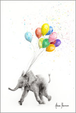 Gallery print  Elephant with balloons - Ashvin Harrison