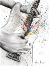 Wall sticker  The Guitar Solo - Ashvin Harrison