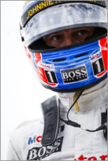 Gallery print  Jenson Button, German Grand Prix 2014