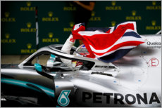 Wood print  Lewis Hamilton, British GP 2019