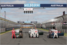 Foam board print  The six World Champions, Australian GP 2012