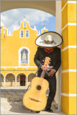 Premium poster  Mexican Mariachi with his guitar - Matteo Colombo