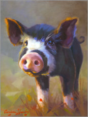 Foam board print  Black piggy - Carolyne Hawley