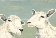 Canvas print  Shy sheep - Jade Reynolds