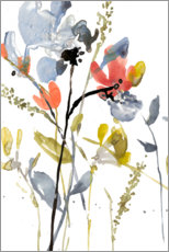 Wall sticker  Flower Overlay II - Jennifer Goldberger